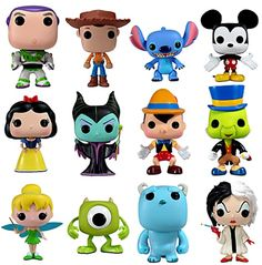 Disney and Funko have teamed up to unite your favorite Disney and Disney-Pixar characters in adorable eye-popping vinyl form. Collect all 12 POP! Disney vinyl figures for an assortment that will surely pop out with delight on your shelf! Disney Pop, Disney Magic, Disney Cars, Disney Stuff, Toy Art, Vinyl Toys, Funko Pop Vinyl, Pop Vinyl Collection, Legos