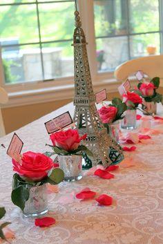 Eiffel Tower centre pieces! this is beautiful! #nightinparisprom
