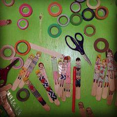 popsicle stick people @vintagefern- #webstagram