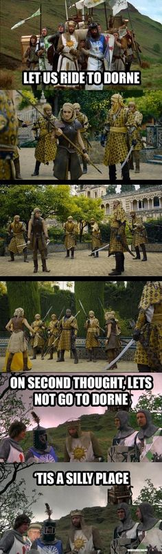 When Monty Python summed up how we all feel about Dorne.