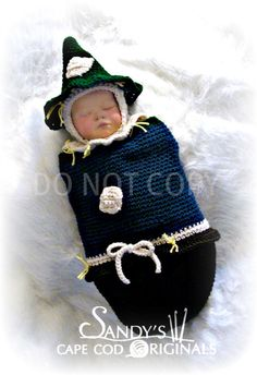 Scarecrow Cocoon and Hat Crochet Pattern pdf by SandysCapeCodOrig, $5.95