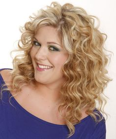 hairstyles for curly hair women full face | Casual Long Wavy Hairstyle - Light Blonde Shag - 14332 | TheHairStyler ...