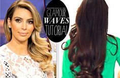 Kim kardashian everyday old hollywood curls holiday hairstyles for long hair tutorial giveaway qtiny com Easy Updo Hairstyles, Prom Hairstyles For Short Hair, Holiday Hairstyles, Elegant Hairstyles, Hairstyles With Bangs, Wedding Hairstyles, Everyday Hairstyles, Graduation Hairstyles, Bun Hairstyle