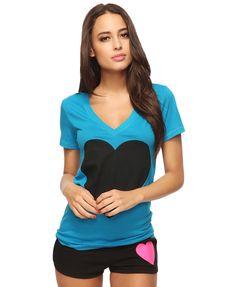 Jumbo Heart Top   FOREVER21 - $8.80