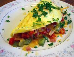 Omelete de clara de ovo com salsinha