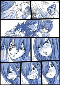 The only person in the world that can make The Queen of Fairies and the strongest woman in Fairy Tail blush is Jellal Fernandes. Rog Fairy Tail, Fairy Tail Amour, Fairy Tail Meme, Fairy Tail Comics, Fairy Tail Ships, Fairy Tail Erza Scarlet, Fairy Tail Natsu And Lucy, Fairy Tail Manga, Fairytail