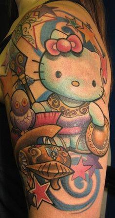 Hello kitty tattoos on pinterest hello kitty wallpaper for Hello kitty tattoo sleeve