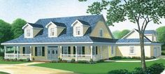 Like master bath Eplans Country House Plan - Four Bedroom Country - 3072 Square Feet and 4 Bedrooms(s) from Eplans - House Plan Code HWEPL72436