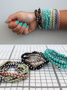 How To Make Cool DIY Beaded Bracelets | Easy Craft Projects For Teen Girls By DIY Ready. |http://diyready.com/16-cool-diy-bracelets/