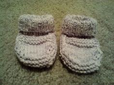 sprINgSPIRATION!  emssten's Gansey Baby Booties in Cotton Twirl by Crystal Palace Yarns