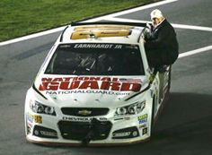 Car owner Rick Hendrick rides with Dale Earnhardt Jr.…