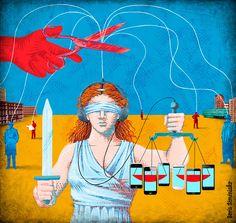 Boris Séméniako - Illustration pour Le Monde - La justice et les écoutes téléphoniques