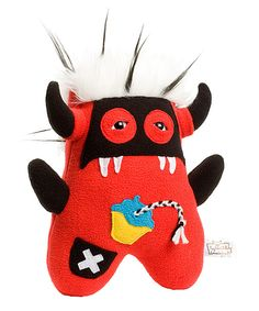 This Beasty Buddies Red Bombix Monster Plush by Beasty Buddies is perfect! #zulilyfinds