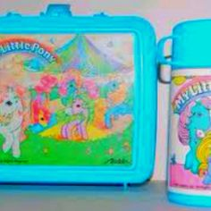 My little pony lunchbox!!! - I am pretty sure this is the one I had in kindergarten! 80s kids