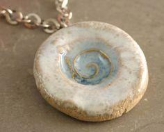 Handmade Ceramic Sea Life Pendant Necklace #etsyfollow