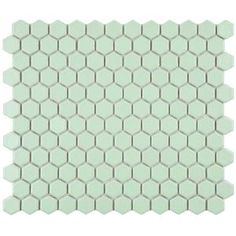 Merola Tile, Metro Hex Matte Light Green 10-1/4 in. x 11-3/4 in. x 5 mm Porcelain Mosaic Floor and Wall Tile (8.54 sq. ft. / case), FXLM1HMG at The Home Depot - Mobile