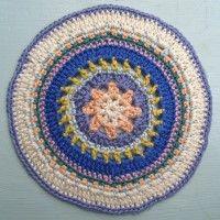 Crochet Mandala Wheel made by Lisa, USA, for yarndale.co.uk