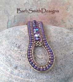 Purple Bronze Beaded Wrap Cuff Bracelet - The Indian Princess in Amethyst