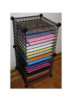 12x12 Scrapbook Paper Organizer Rack Storage Plans PDF File