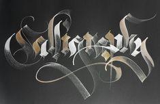 calligraphic work by Gabriel Martínez Meave