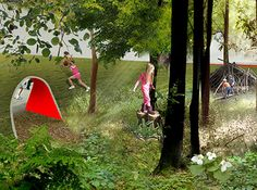 Award-Winning Playground Concept 'Into the Wild' Pairs The Wilderness With The Urban Jungle