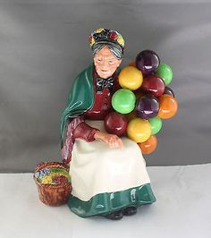 """Royal Doulton """"The Old Balloon Seller"""" HN1315 Made in England Lady Figurine"""
