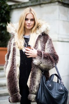 #BridgetMalcolm and her epic fur. #offduty in London.