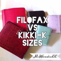 MsWenduhh Planners & Printables: Filofax vs. Kikki-K Planner Sizes