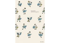 Lovely illustrations. I like the patterning and simple colours. If I made a simple pattern like this I could paint in some of the colours, just a thought.