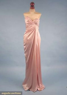 Augusta Auctions: thierry mugler strapless evening gown, late 20th c #vintage #fashion