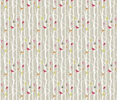 birdhouse fabric by troismiettes on Spoonflower - custom fabric