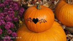 Heart Bat vinyl decal by deannabachart