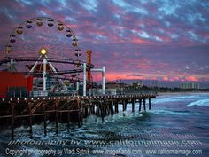 Santa Monica Pier. This place is pure fun. The last time I went, Paul and I rented beach cruisers and rode along the sandy beach. <3