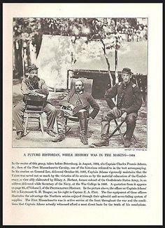 Historian Capt Charles Francis Adams 1864 Union Army Civil War Print