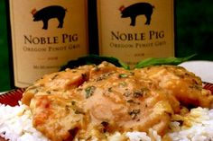 Easy Chicken Pinot Gris from Noble Pig. A delicious dinner you won't soon forget.