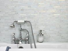Uncalibrated Slate Linear Split Face Mosaic | Topps Tiles
