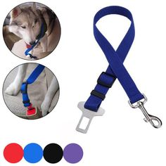 Cat Dog Pet Safety Seatbelt Car Vehicle Seat Belt Adjustable Harness Lead 4Color Listing in the Collars, Leads, Muzzles & Tags,Dogs,Pets,Home & Garden Category on eBid United States | 144805754