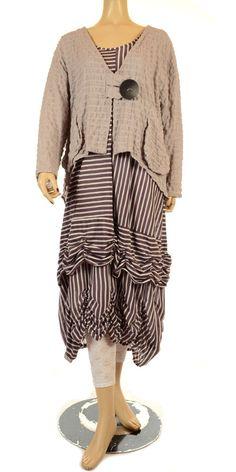 Turbulence Fine Summer Plum & White Check Linen Textured Jacket-Turbulence, lagenlook, womens plus size UK clothing