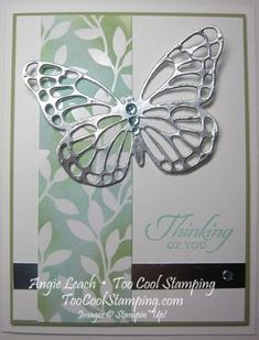 Irresistible silver butterfly - light