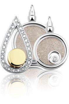 Assieraad, Ashanger gevuld met as, zichtbaar en onzichtbaar. Echt zilver. Uit de collectie See-You.
