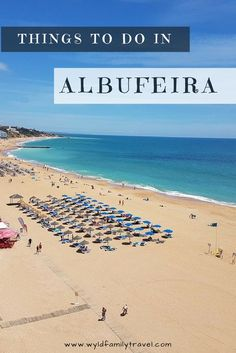 Albufeira is a great town for a holiday on the Algarve. Big sandy beaches and old town and nearby sights everywhere Things to do in Albufeira | Algarve region of Portugal | Albufeira Old Town | Water parks Albufeira | Best beaches in the Algarve | Ablufeira Portugal |
