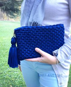 Bolso Clutch con fettuccia Knit and Love Shop a crochet