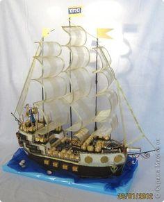 Свит-дизайн День рождения МЕГА сладкий корабль Бумага гофрированная фото 2