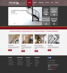 Réalisation du site internet - Técabois - fabricant d'escaliers. www.tecabois.com