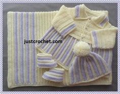 JC110B Layette Baby ... by justcrochet | Crocheting Pattern - Looking for your next project? You're going to love JC110B Layette Baby Crochet Pattern by designer justcrochet. - via @Craftsy