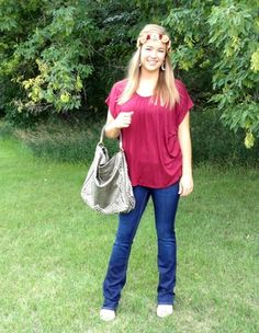 Wine Simplicity Top $28 #farmerswifeboutique #burgundy #fallclothing #boutique