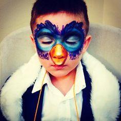 Zazu inspired makeup (mask) Lion King play. By Eunice Alvarenga
