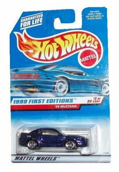 Hot Wheels 1999: First Editions : '99 Mustang 1/64 scale (2 of 26 Collector #909) by Mattel. $4.99. age 3 plus. Hot Wheels 1999: First Editions : '99 Mustang 1/64 scale (2 of 26 Collector #909). Hot Wheels 1999: First Editions : '99 Mustang 1/64 scale (2 of 26 Collector #909)