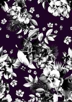Dark Tropics Print project on Behance Textile Prints, Textile Patterns, Print Patterns, Floral Prints, Pattern Illustration, Pattern Art, Pattern Designs, Pattern Wallpaper, Background Patterns
