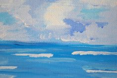 Abstract beach painting by Jessica Griffin via Etsy.